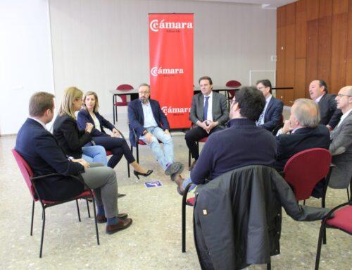 El Grupo de Ciudadanos se reúne con el nuevo presidente de la Cámara de Comercio de Albacete, Juan Martínez Moraga