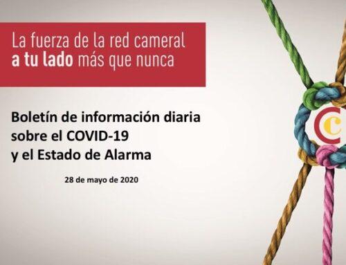 Boletín de información diaria sobre el COVID-19 y el Estado de Alarma